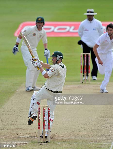 Michael Clarke hooks Graham Onions during his 103 not out England v Australia 3rd Test Edgbaston Jul 09