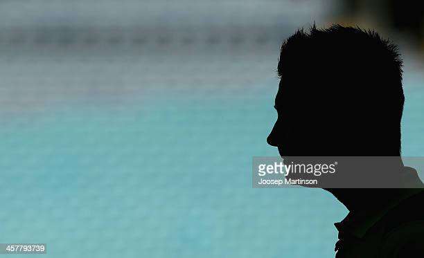 Michael Clarke looks on during a Sydney Thunder Big Bash League media session at ANZ Stadium on December 19 2013 in Sydney Australia