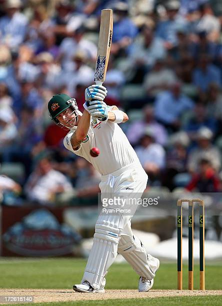 Michael Clarke of Australia bats during day three of the Tour Match between Worcestershire and Australia at New Road on July 4 2013 in Worcester...