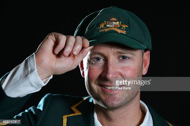 Michael Clarke of Australia poses ahead of his 100th Test Match after a media session at the WACA on December 12 2013 in Perth Australia