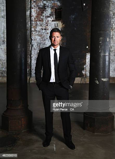 Michael Clarke of Australia poses ahead of the 2015 Allan Border Medal at Carriageworks on January 27, 2015 in Sydney, Australia.