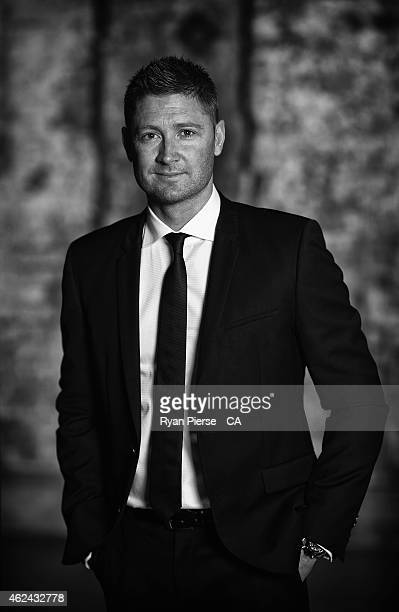 Michael Clarke of Australia poses ahead of the 2015 Allan Border Medal at Carriageworks on January 27 2015 in Sydney Australia