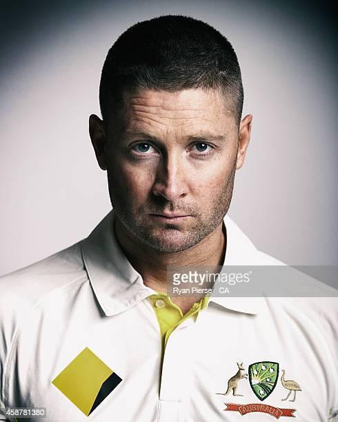Michael Clarke of Australia poses during an Australian Test Team Portrait Session on August 11 2014 in Sydney Australia