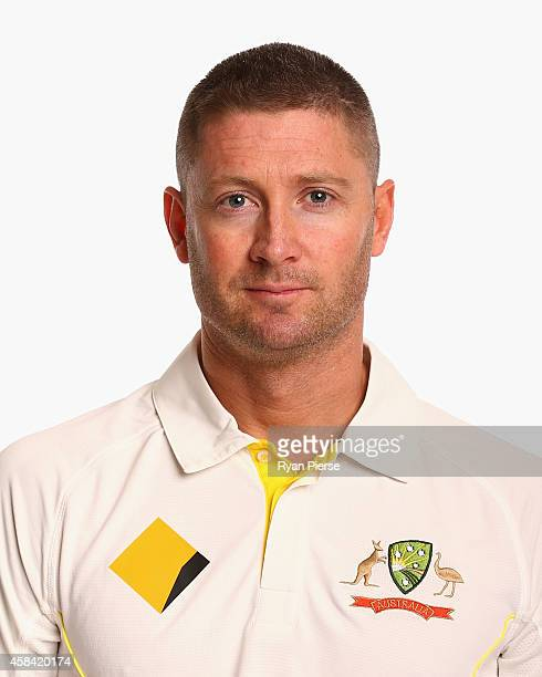 Michael Clarke of Australia poses during the Australia Test team headshots session at the Intercontinental Hotel on August 11 2014 in Sydney Australia