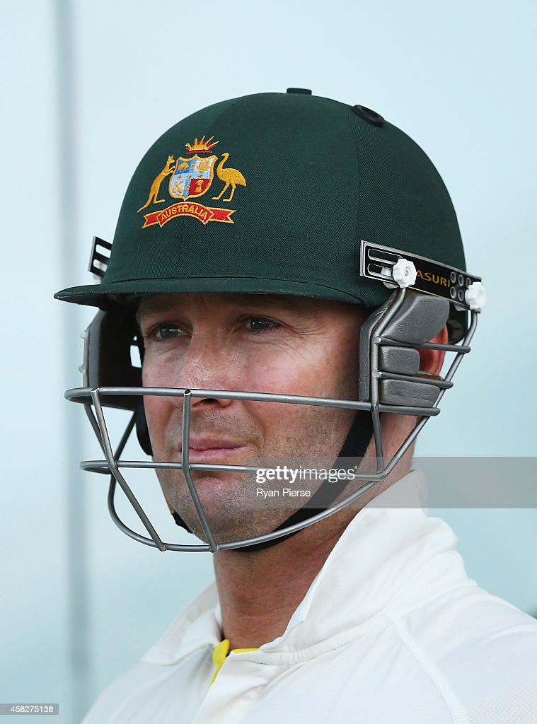 Michael Clarke of Australia prepares to bat during Day Four of the Second Test between Pakistan and Australia at Sheikh Zayed Stadium on November 2, 2014 in Abu Dhabi, United Arab Emirates.