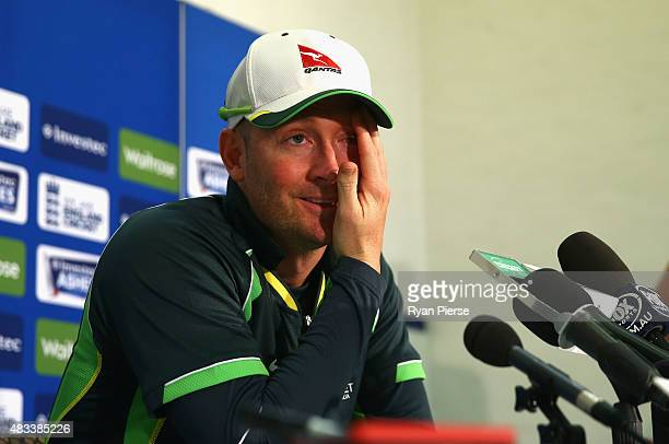 Michael Clarke of Australia speaks during a press conference after he announced his retirement during day three of the 4th Investec Ashes Test match...