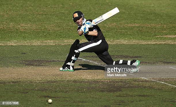Michael Clarke of Western Suburbs bats during the Mosman v Western Suburbs first grade match at Allan Border Oval on September 24 2016 in Sydney...