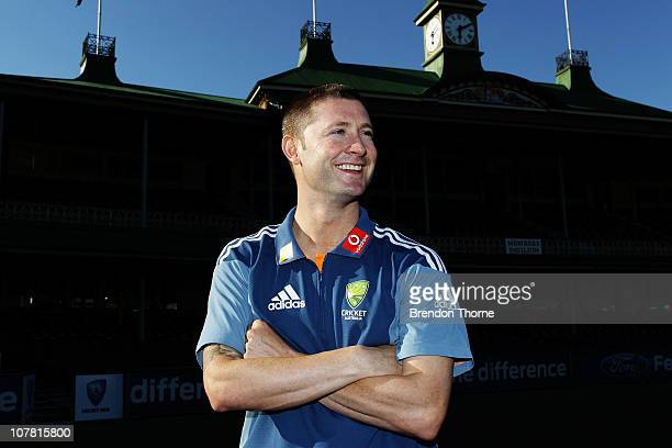 Michael Clarke poses after being announced Australian Captain for the fifth Ashes test against England at the SCG on January 3rd following a press...