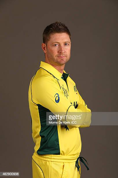 Michael Clarke poses during the Australia 2015 ICC Cricket World Cup Headshots Session at the Intercontinental on February 7 2015 in Adelaide...