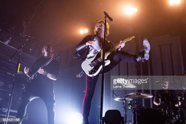Michael Clifford and Luke Hemmings of 5 Seconds Of Summer perform at Heaven on April 5 2018 in London England