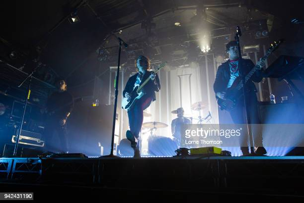 Michael Clifford Ashton Irwin Luke Hemmings and Calum Hood of 5 Seconds Of Summer perform at Heaven on April 5 2018 in London England