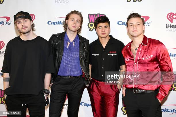 Michael Clifford Luke Hemmings Calum Hood and Ashton Irwin of 5 Seconds of Summer attend WiLD 949's FM's Jingle Ball 2018 Presented by Capital One at...