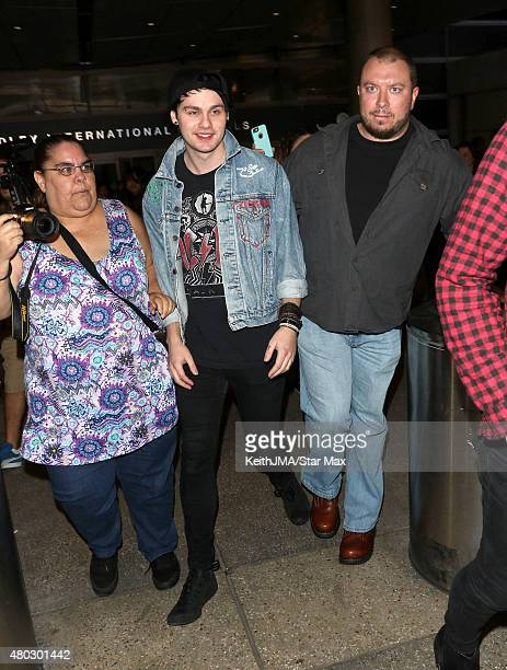 Michael Clifford of 5 Seconds of Summer are seen on July 10 2015 in Los Angeles California