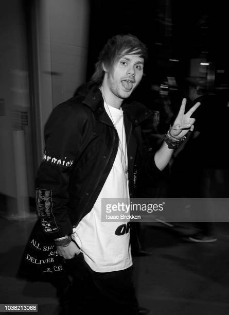 Michael Clifford of 5 Seconds of Summer attends the 2018 iHeartRadio Music Festival at TMobile Arena on September 22 2018 in Las Vegas Nevada