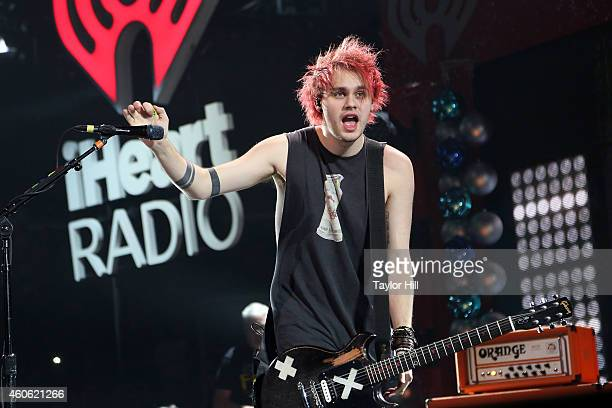 Michael Clifford of 5 Seconds of Summer performs at the 2014 Hot 995 Jingle Ball at Verizon Center on December 15 2014 in Washington DC