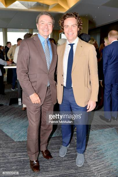 Michael Clinton and Jay Fielden attend Magrino PR 25th Anniversary at Bar SixtyFive at Rainbow Room on July 25 2017 in New York City