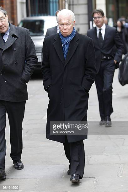 Michael Cochrane attends the funeral of Christopher Cazenove at The Actors Church Covent Garden on April 16 2010 in London England