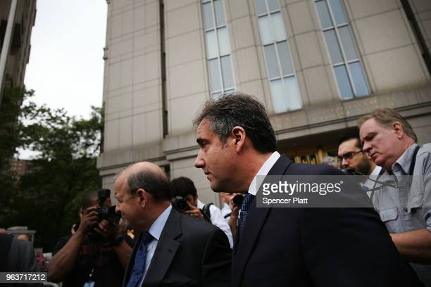 Michael Cohen a longtime personal lawyer and confidante for President Donald Trump leaves the United States District Court Southern District of New...