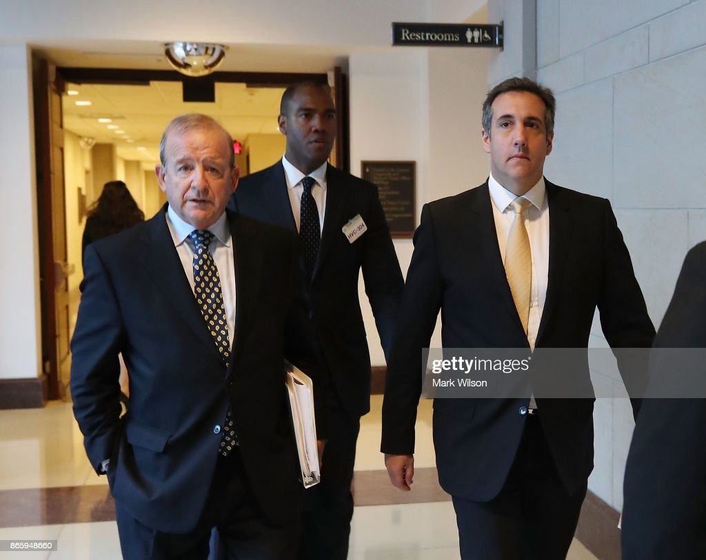 Trump's Personal Attorney Michael Cohen Meets With House Intelligence Cmte : News Photo