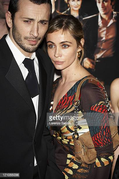 Michael Cohen and Emmanuelle Beart during 'Le Heros de la Famille' Paris Premiere in Paris France