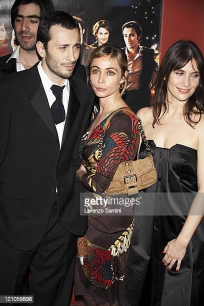 Michael Cohen and Emmanuelle Beart during 'Le Heros de la Famille' Paris Premiere in Paris France