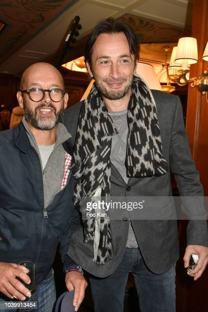 Michael Cohen and Maurice BarthelemyÊattend the Hotel Napoleon 90th Anniversary Party in Paris on September 24 2018 in Paris France