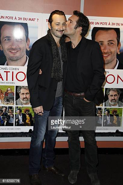 Michael Cohen and Nicolas Bedos attend the l'Invitation Paris Premiere at UGC George V on October 17 2016 in Paris France