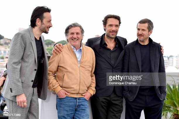 Michael Cohen Daniel Auteuil Nicolas Bedos and Guillaume Canet attend the photocall for Le Belle Epoque during the 72nd annual Cannes Film Festival...