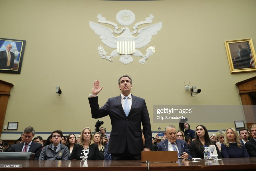 Former Trump Lawyer Michael Cohen Testifies Before House Oversight Committee : News Photo