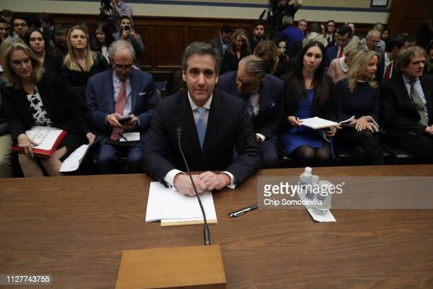 Michael Cohen former attorney and fixer for President Donald Trump arrives to testify before the House Oversight Committee on Capitol Hill February...