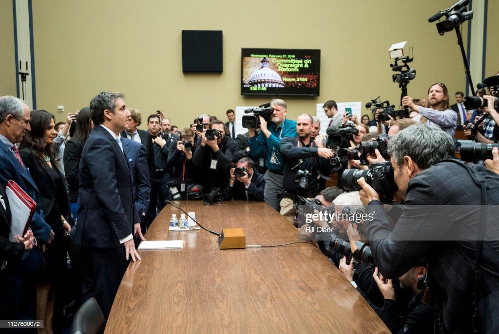 Michael Cohen Hearing : News Photo