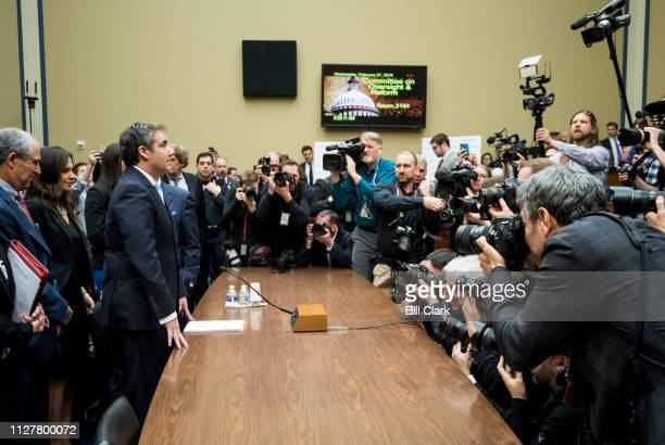 Michael Cohen former attorney for President Donald Trump arrives to testify to the House Oversight and Reform Committee hearing on Russian...