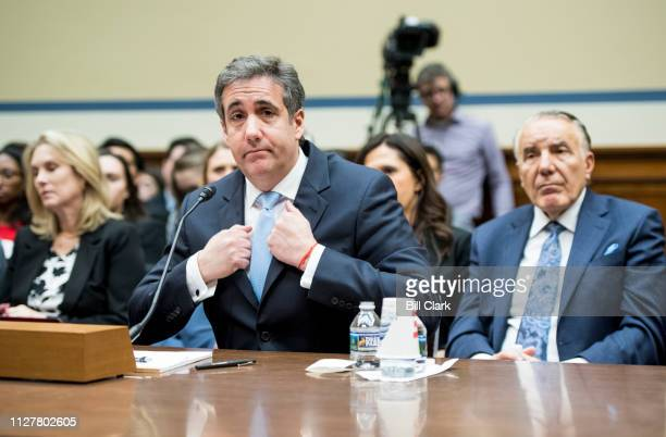 Michael Cohen former attorney for President Donald Trump testifyies during the House Oversight and Reform Committee hearing on Russian interference...
