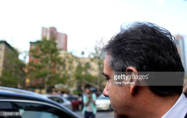 Michael Cohen former lawyer to US President Donald Trump exits the Federal Courthouse on August 21 2018 in New York City Cohen reached an agreement...