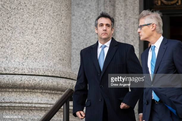 Michael Cohen former personal attorney to President Donald Trump exits federal court November 29 2018 in New York City At the court hearing Cohen...