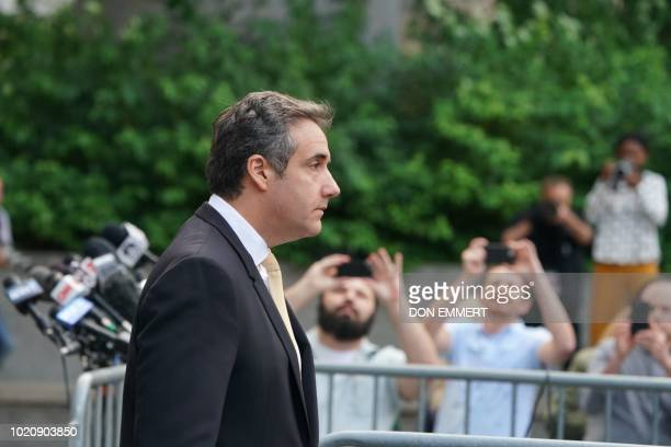 Deputy US Attorney for the Southern District of New York Robert Khuzami speaks to the media about the Michael Cohen case outside of federal court...