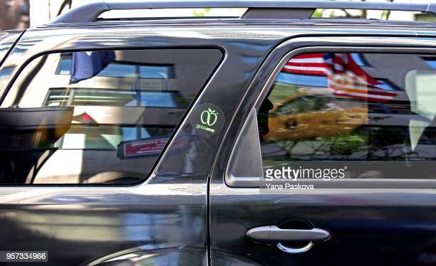 Michael Cohen former personal lawyer for US President Donald Trump leaves the Loews Regency Hotel in a black car on May 11 2018 in New York City...