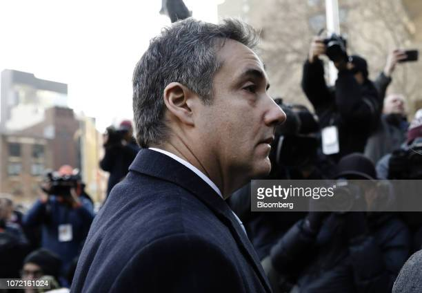 Michael Cohen former personal lawyer to US President Donald Trump arrives at federal court in New York US on Wednesday Dec 12 2018 Cohen confessed...