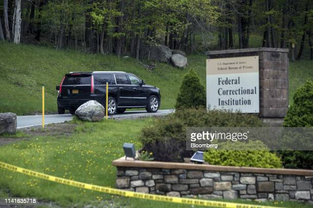 Michael Cohen former personal lawyer to US President Donald Trump arrives in a vehicle at the Federal Correctional Facility in Otisville New York US...