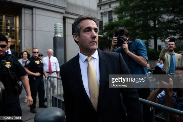 Michael Cohen former personal lawyer to US President Donald Trump exits from federal court in New York US on Tuesday Aug 21 2018 Sunday January 20...