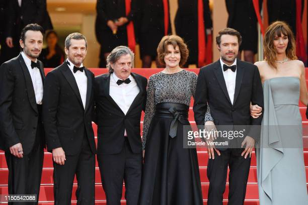 Michael Cohen Guillaume Canet Daniel Auteuil Fanny Ardant Nicolas Bedos and Doria Tillier attend the screening of La Belle Epoque during the 72nd...