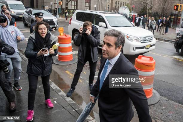 Michael Cohen longtime personal lawyer and confidante for President Donald Trump arrives at the United States District Court Southern District of New...