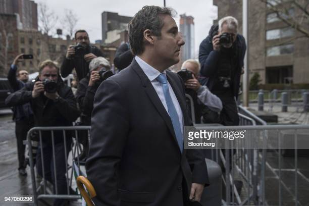 Michael Cohen personal lawyer to US President Donald Trump arrives at Federal Court in New York US on Monday April 16 2018 Cohen says he gave legal...
