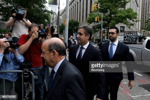 Michael Cohen personal lawyer to US President Donald Trump center arrives at federal court in New York US on Wednesday May 30 2018 Cohen said a...