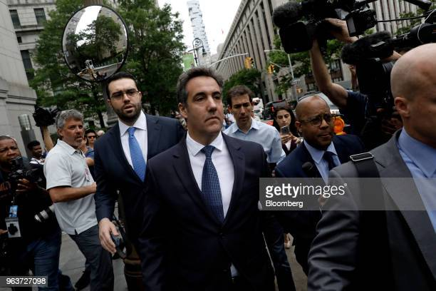 Michael Cohen personal lawyer to US President Donald Trump center exits federal court in New York US on Wednesday May 30 2018 Cohen said a recent...