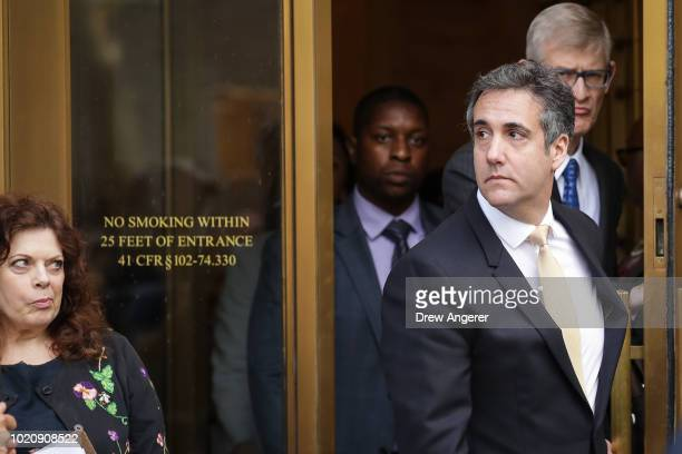 Michael Cohen President Donald Trump's former personal attorney and fixer exits federal court August 21 2018 in New York City Cohen reached an...