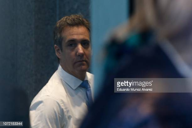 Michael Cohen President Donald Trump's former personal attorney and fixer is seen inside the court as he arrives for his sentencing hearing December...