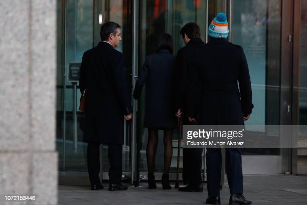 Michael Cohen President Donald Trump's former personal attorney and fixer arrives at federal court for his sentencing hearing December 12 2018 in New...