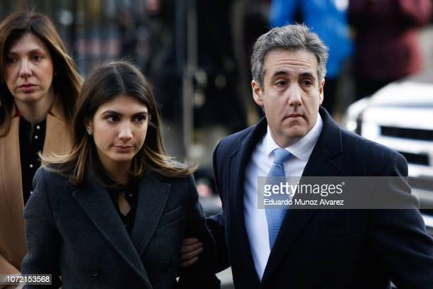 Michael Cohen President Donald Trump's former personal attorney and fixer arrives with daughter Samantha Blake Cohen at federal court for his...