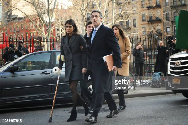 Michael Cohen President Donald Trump's former personal attorney and fixer walks into a federal courthouse in Manhattan to face sentencing for his...